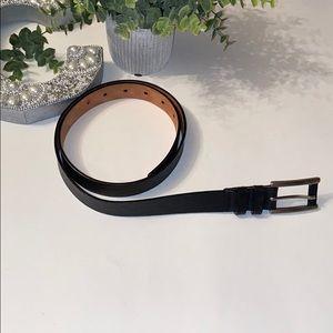 Talbots Pebble Genuine Leather Black Belt